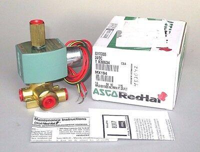Asco Solenoid Valve 8317g035 14 Npt 3-way N.c. Quick Exhaust 24vdc Coil