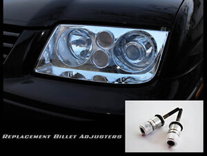 VW MK4 Jetta / BORA OEM HID European Headlight BILLET Aluminum Adjusters.