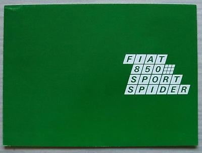 FIAT 850 SPORT SPIDER Car Sales Brochure c1968 #2663 FRENCH TEXT