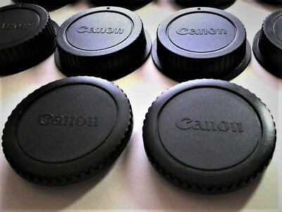 2 X NEW CANON Camera BODY/REAR LENS CAP SETS. FAST U.S. SHIPPING-QUALITY