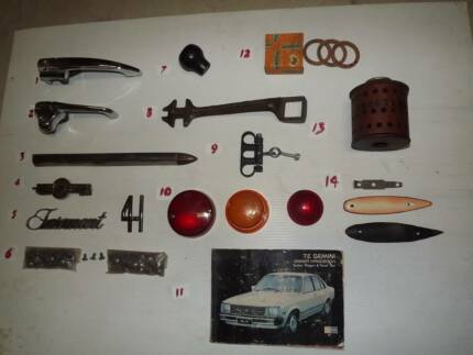 ASSORTED CAR RELATED PARTS