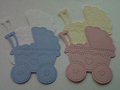 20 GORGEOUS PRAMS FOR BABY CARDS/TOPPERS