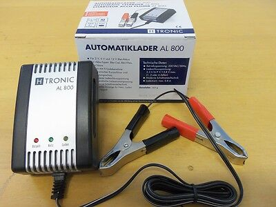 Batterie Ladegerät AL 800 H-tronic 2/6/12V Gel Blei AGM Automatik Lader Motorrad