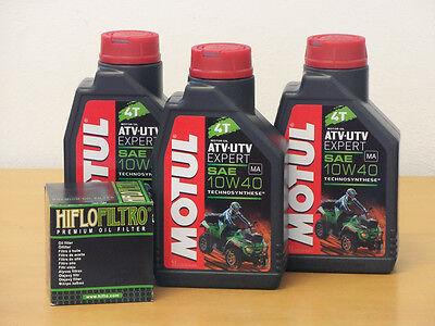 Motul Öl Quad teilsynthetisch / Ölfilter Suzuki LTA 750 King Quad 08-10 (Suzuki Quad öl)