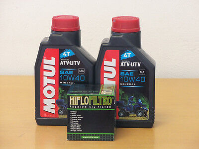 Motul Öl Quad mineralisch /  Ölfilter Suzuki LT-F160 Bj 99-04 (Suzuki Quad öl)