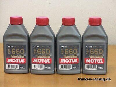 25,60€/l Motul RBF 660 Racing Bremsflüssigkeit 4x500 ml