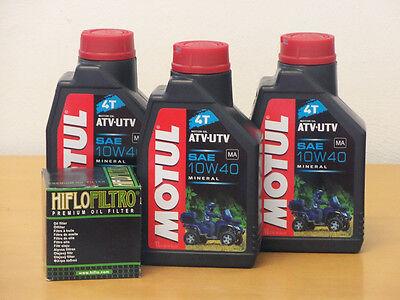 Motul Öl Quad mineralisch / Ölfilter Suzuki KLT-A 400 KLT-F 400 King Quad ab 09  (Suzuki Quad öl)