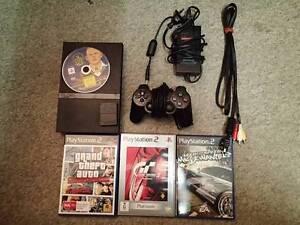 Sony PS 2+4 games+8GB Memory Card+Adaptor+AV Cable+1 Joystick Ashburton Boroondara Area Preview