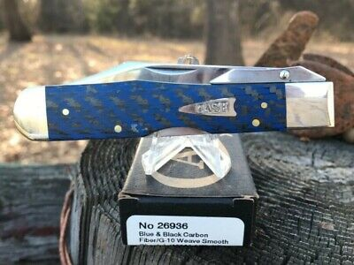 Case XX Blue & Black Carbon Fiber Cheetah Pocket Knife, New in Box