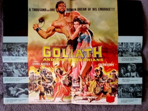 Goliath and the Barbarians pressbook STEVE REEVES Chelo Alonso UNCUT Bruce Cabot