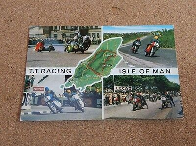 Isle Of Man TT racing Postcard ,posted 1971   xc1