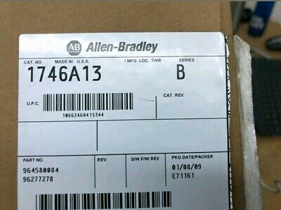 Allen Bradley Slc 500 13 Slot Chassis 1746-a13 B New 1746 A13 B Wrnty Fst