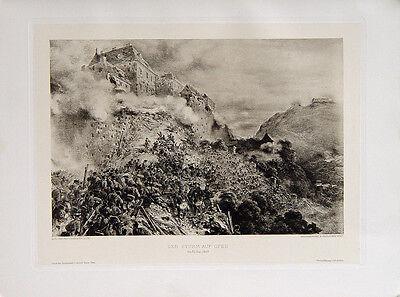 August Pettenkofen Sturm Festung Ofen Budapest Ungarn Hentzi von Arthurm 1849