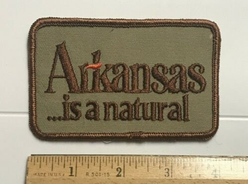 """Arkansas is a Natural AR Souvenir 4"""" Long Embroidered Patch Badge"""