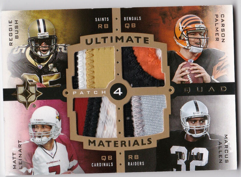 Marcus Allen Reggie Bush Carson Palmer Leinart Ultimate Collection Patch 10/10