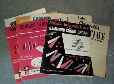 Hammond Organ Music - HAMMOND CHORD ORGAN Books,Sheet Music CHOICE $3.99 ea Have Wear/Damage  Group D
