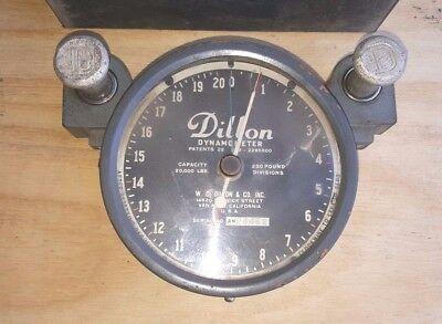Vintage Dillon Ap Dynamometer 6 In Dial 20000 X 250 Lb Increments Wmetal Case