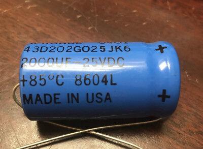 Sprague Capacitor 2000uf 25vdc 1986 Date Codes