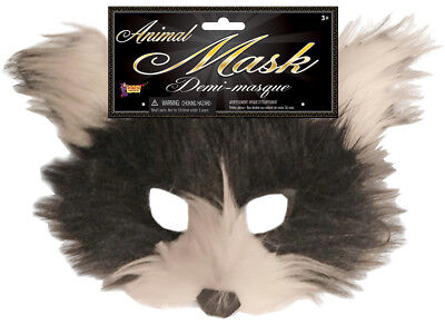 Cat Adult Furry Brown Animal Half Face Halloween Costume Mask](Halloween Cat Faces Adults)