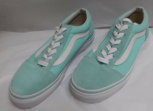 Vans Old Skool Blue Tint/True White Classic Skate Shoes  K+M-4.0/W 5.5 NWOB