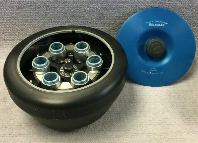 Beckman JS 13.1 13,000 RPM Centrifuge Rotor with 6 x 50 mL tubes