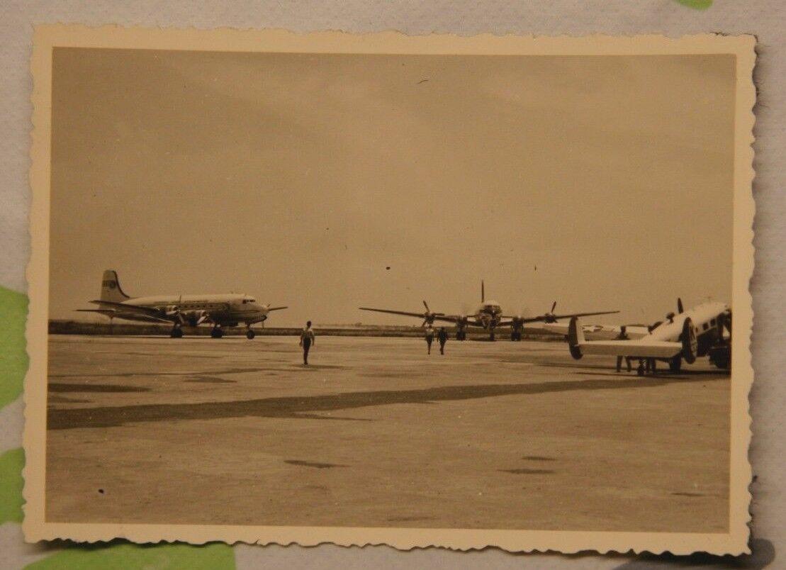 Foto Flugzeug Barcelona Spanien 1959 Argonaut G-ALHP X5