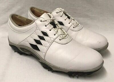 Argyle Golf Schuhe (FOOTJOY Summer Series 98810 White/ Black Argyle Diamonds Golf Cleats Shoes  Sz 9)