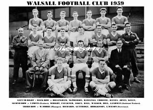 WALSALL-F-C-TEAM-PRINT-1959-HILL-DAVIES-RICHARDS