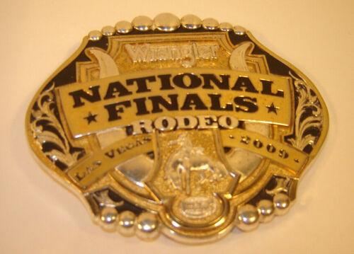 Las Vegas Wrangler National Finals Rodeo Belt Buckle Montana Silversmiths 2009