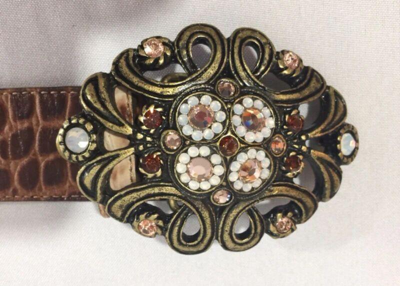 Cache Leather alligator vintage Belt