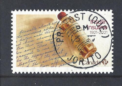 2021 Discovery of Insulin 1921-2021 Single P stamp First Day Cancel