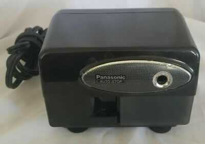 Panasonic Auto Stop Black Electric Pencil Sharpener Kp-310 Tested Free Shipping