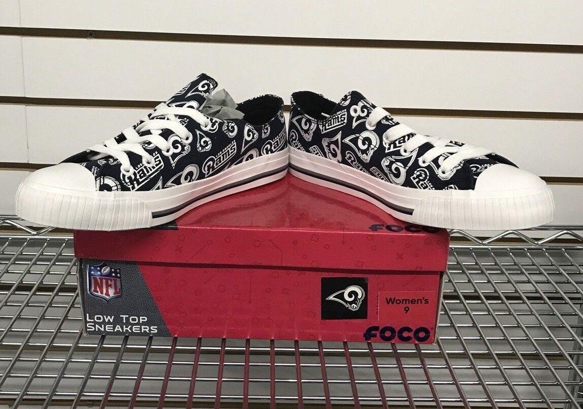f91dc571 NFL FOCO LA Rams Repeat Print Low Top Sneakers Women's Size 7,8(sold ...
