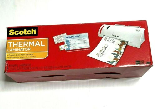 """Scotch """"Thermal Laminator"""" TL901 + 2 Pouches, Home School Office Equipment, New"""