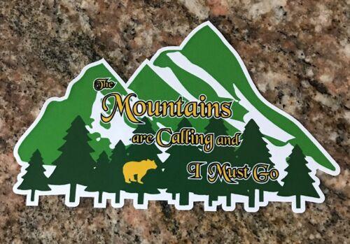 mountains sticker ski snowboard fishing camping hiking