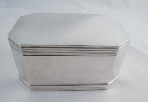 DUTCH LARGE SILVER BOX NOT STERLING