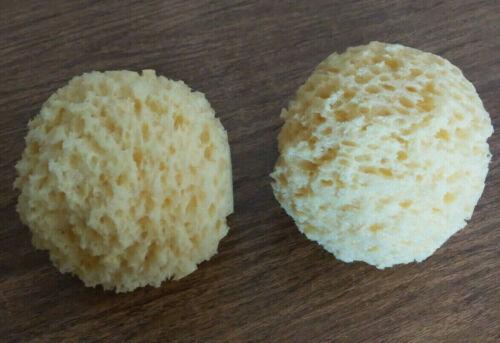 "2 Round Synthetic Sponges 4"" Diameter Paint Craft Pottery Ceramic Art Sponges"