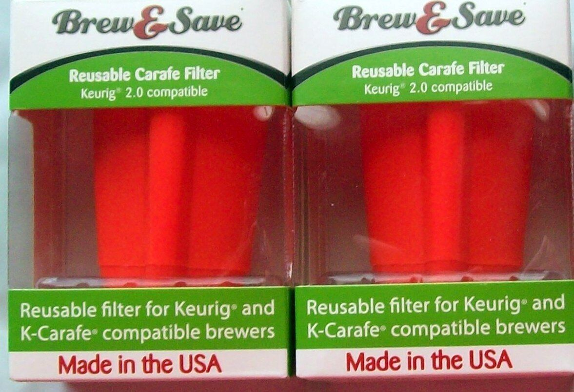 Brew-And-Save 2 Reusable Coffee Filters  for K-Cups-For-Keur