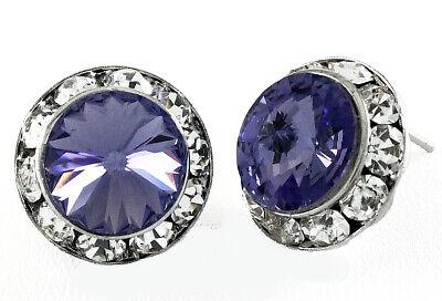 Crystal Earrings Tanzanite 5/8