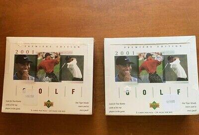 2001 Upper Deck Golf 2 Sealed Boxes Tiger Woods Rookie Card