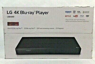 LG 4K Blu-ray Player UBKM9 Ultra HD Blu-ray Disk. *NEW*
