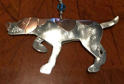 Brand New Pilgrim Imports Beaded Pointer Metal Christmas Ornament