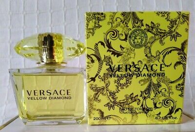 VERSACE Yellow Diamond EDT Spray 200ml BNIB Not Used Not Sealed With Free Gifts
