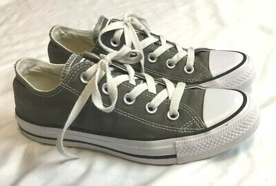 Womens CONVERSE CHUCK TAYLOR OX Low Gray Sneakers Size 6