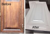 kitchen cabine refinishing