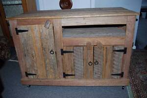 Rustic aged wood TV entertainment cabinet unit RRP $999 Panania Bankstown Area Preview