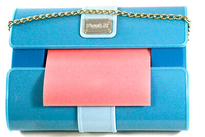 Post-it Pop Up Notes Fashion Dispenser - Teal Purse With Chain - Very Good