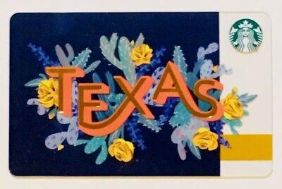 (Starbucks Gift Card - TEXAS - Yellow Rose / Cactus - 2018 City Series (6160))