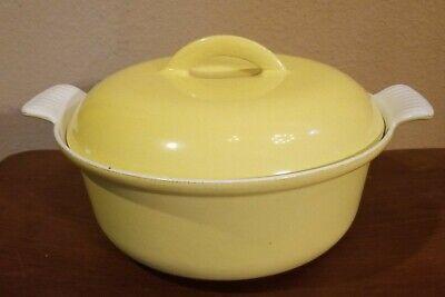 Vintage DESCOWARE Made in Belgium Enamel on Cast Iron Dutch Oven 22