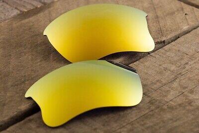 24k Gold Iridium Polarized Mirrored Sunglass Lenses for Oakley Flak Jacket -